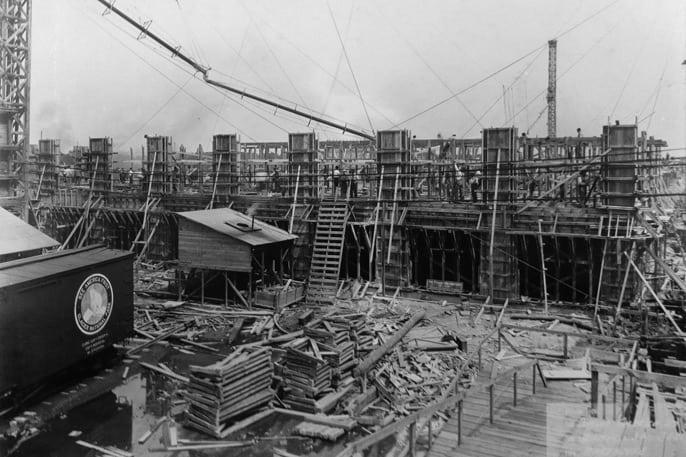Dunlop's Buffalo NY manufacturing facility under construction