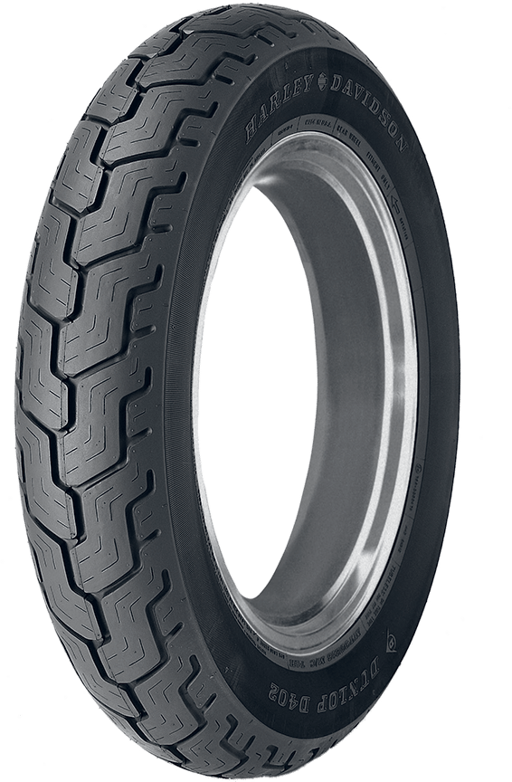 D402 TOURING TIRE WHICH IS ORIGINAL EQUIPMENT ON MANY HARLEY-DAVIDSON MODELS