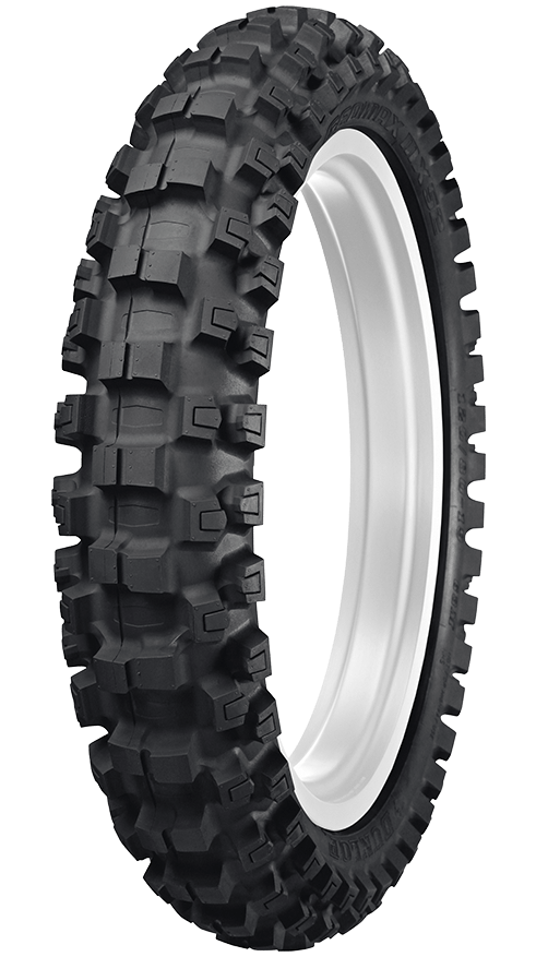GEOMAX MX52 MOTOCROSS TIRE FOR INTERMEDIATE-TO HARD USE FEATURING BLOCK IN A BLOCK TECHNOLOGY