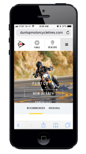 Dunlop Unveils New Web Site mobile