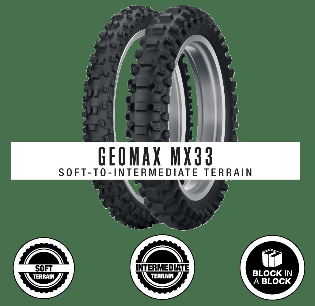 DUNLOP MX33 GEOMAX 70//100-17 FRONT 90//100-14 REAR TIRE SET OFF-ROAD SUZUKI
