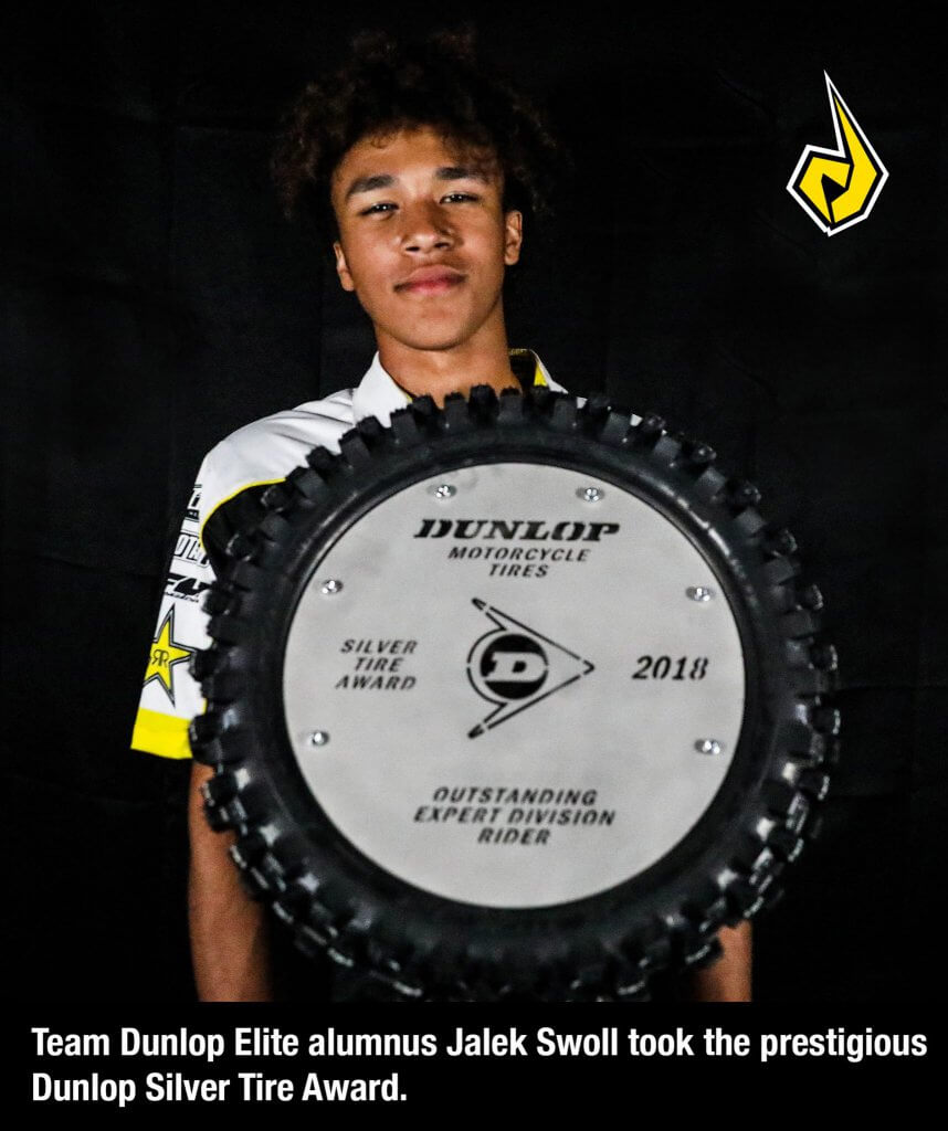 Team Dunlop  Elite alumnus Jalek Swoll Took the Prestigious Dunlop Silver Tire Award