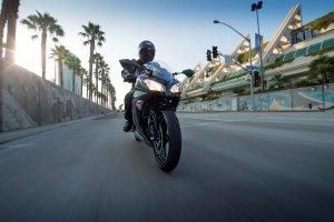 2015 Kawasaki Ninja 300 ABS action motorcycle tires