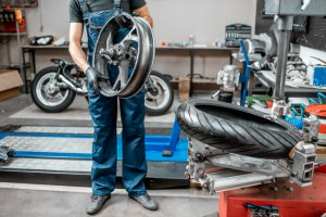 process for motorcycle tires