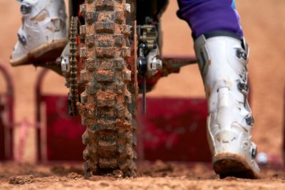 MX Bikes off-load tire and a rider