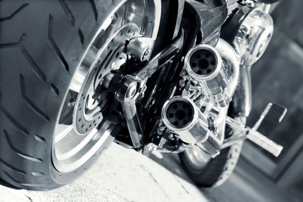 motorcycle with a wider tire
