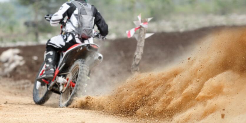 rider on a motorbike track days
